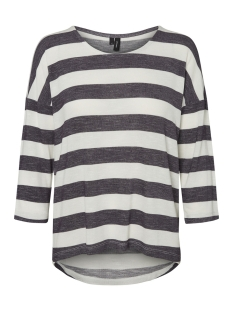 Vero Moda T-shirt VMWIDE STRIPE 3/4 BLOUSE NOOS 10210627 Black/SNOW WHITE