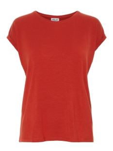 vmava plain ss top ga noos 10187159 vero moda t-shirt chinese red