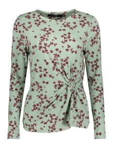 Vero Moda T-shirt VMBLOOM AOP LS BLOUSE  FD18 10215379 Green Bay/W. WINETASTING