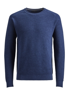 Jack & Jones Trui JPRHARDY KNIT CREW NECK 12146680 Estate Blue/ Melange
