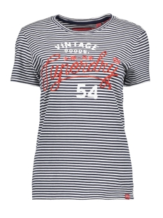 Superdry T-shirt G10130TT OPTIC/ RINSE NAVY STRIPE