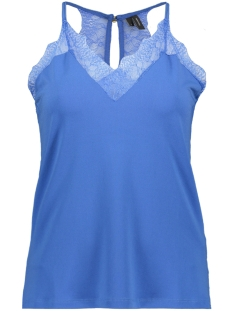 vmmilla s/l lace top color 10209420 vero moda top strong blue
