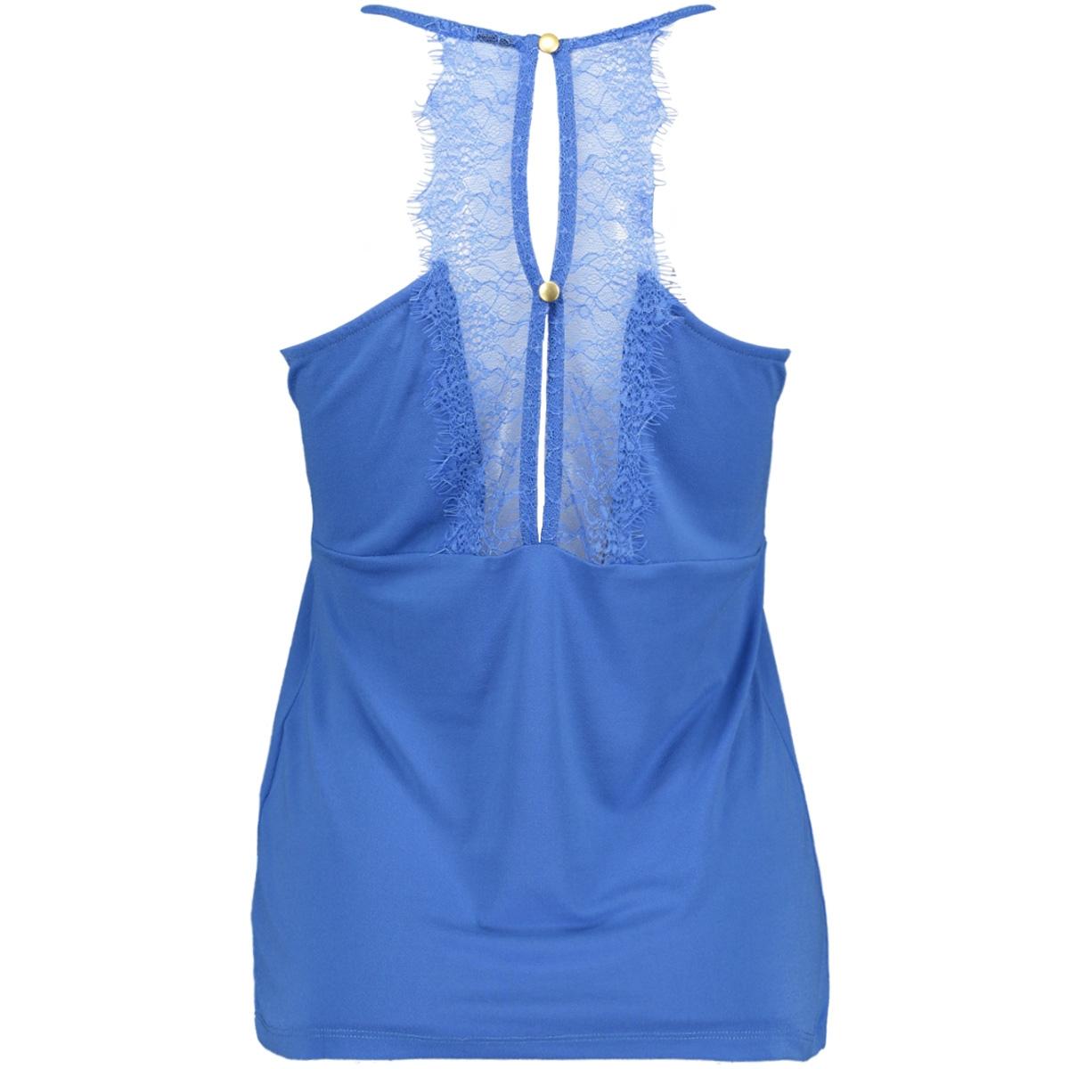 vmmilla s/l lace top color 10209420 vero moda top strong blue