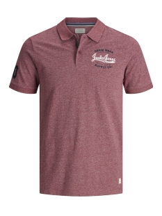 Jack & Jones Polo JJEJEANS POLO SS NOOS 12147697 Tango Red/SLIM FIT