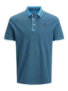 jcochallenge polo ss noos 12145116 jack & jones polo blue coral/reg