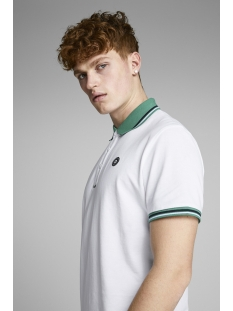 jcochallenge polo ss noos 12145116 jack & jones polo white/reg