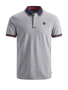 Jack & Jones Polo JCOCHALLENGE POLO SS NOOS 12145116 Light Grey Melange/REG