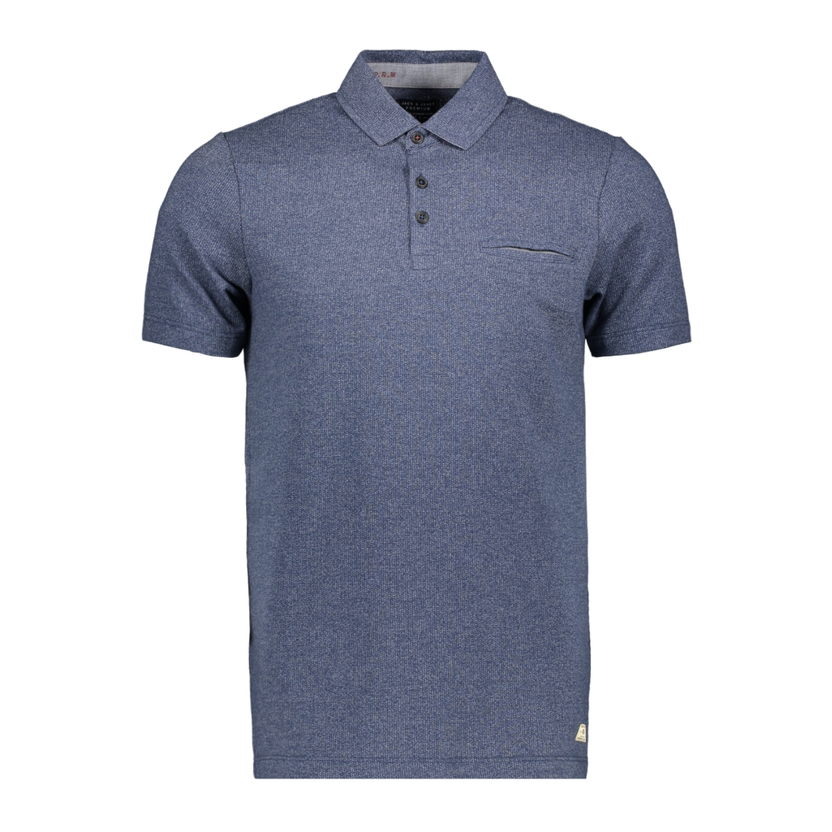 jproscar blu  polo ss 12149727 jack & jones polo navy blazer/slim fit