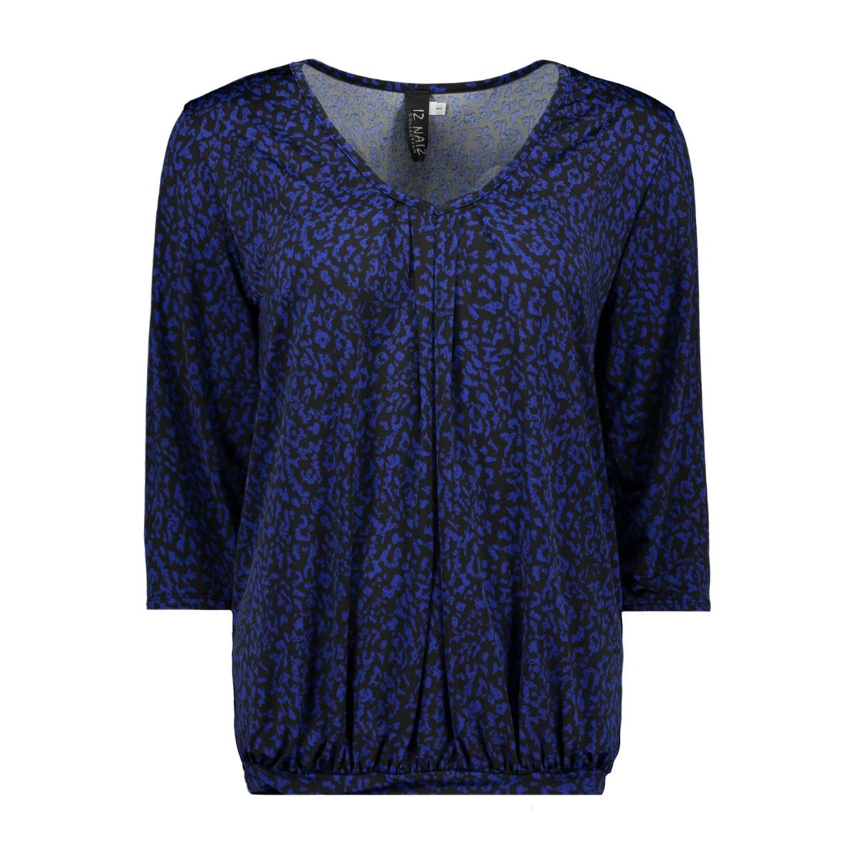 shirt 3/4 v-neck 3418 iz naiz t-shirt leo cobalt