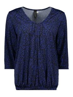 IZ NAIZ T-shirt SHIRT 3/4 V-NECK 3418 LEO COBALT