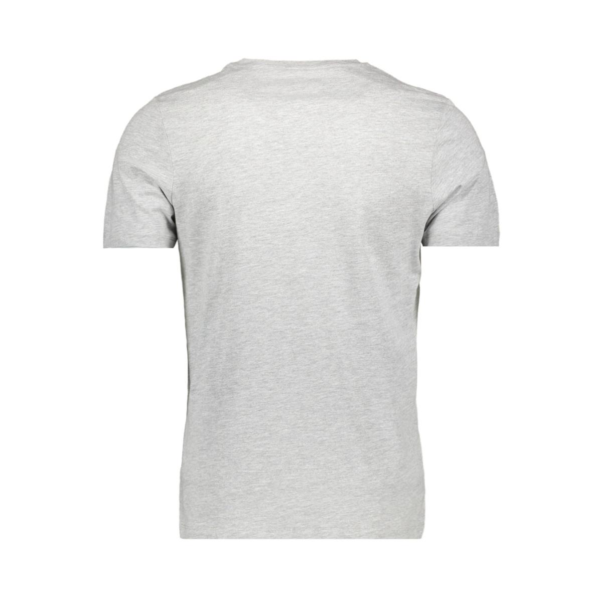 jcobooster  tee ss  crew neck feb 1 12160595 jack & jones t-shirt light grey/mela/slim