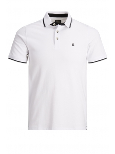 Jack & Jones Polo JJEPAULOS POLO SS NOOS 12136668 White/SLIM FIT