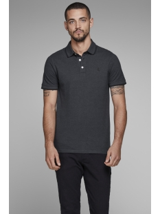 Jack & Jones Polo JJEPAULOS POLO SS NOOS 12136668 Dark Grey Melange/SLIM FIT