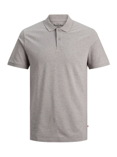 Jack & Jones Polo JJEBASIC POLO SS NOOS 12136516 Light Grey Mela/SLIM FIT