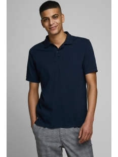 jjebasic polo ss noos 12136516 jack & jones polo navy blazer/slim fit