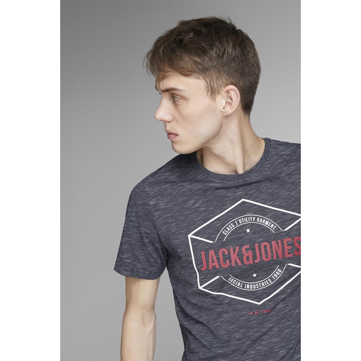 jcofresco tee ss crew neck 12148529 jack & jones t-shirt maritime blue/ slim
