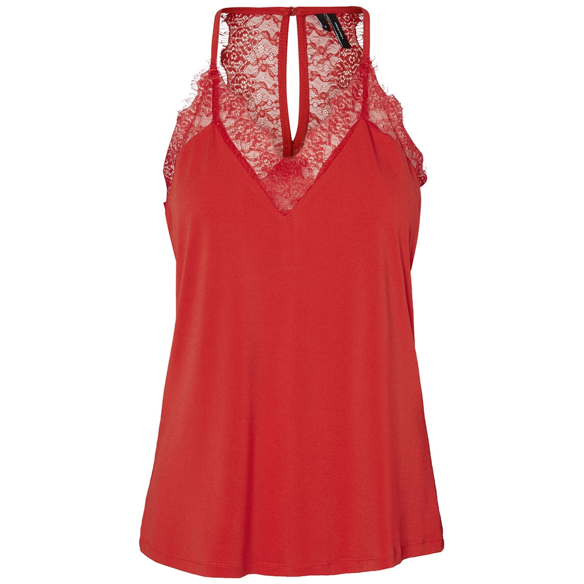 vmmilla s/l lace top color 10209420 vero moda top chinese red