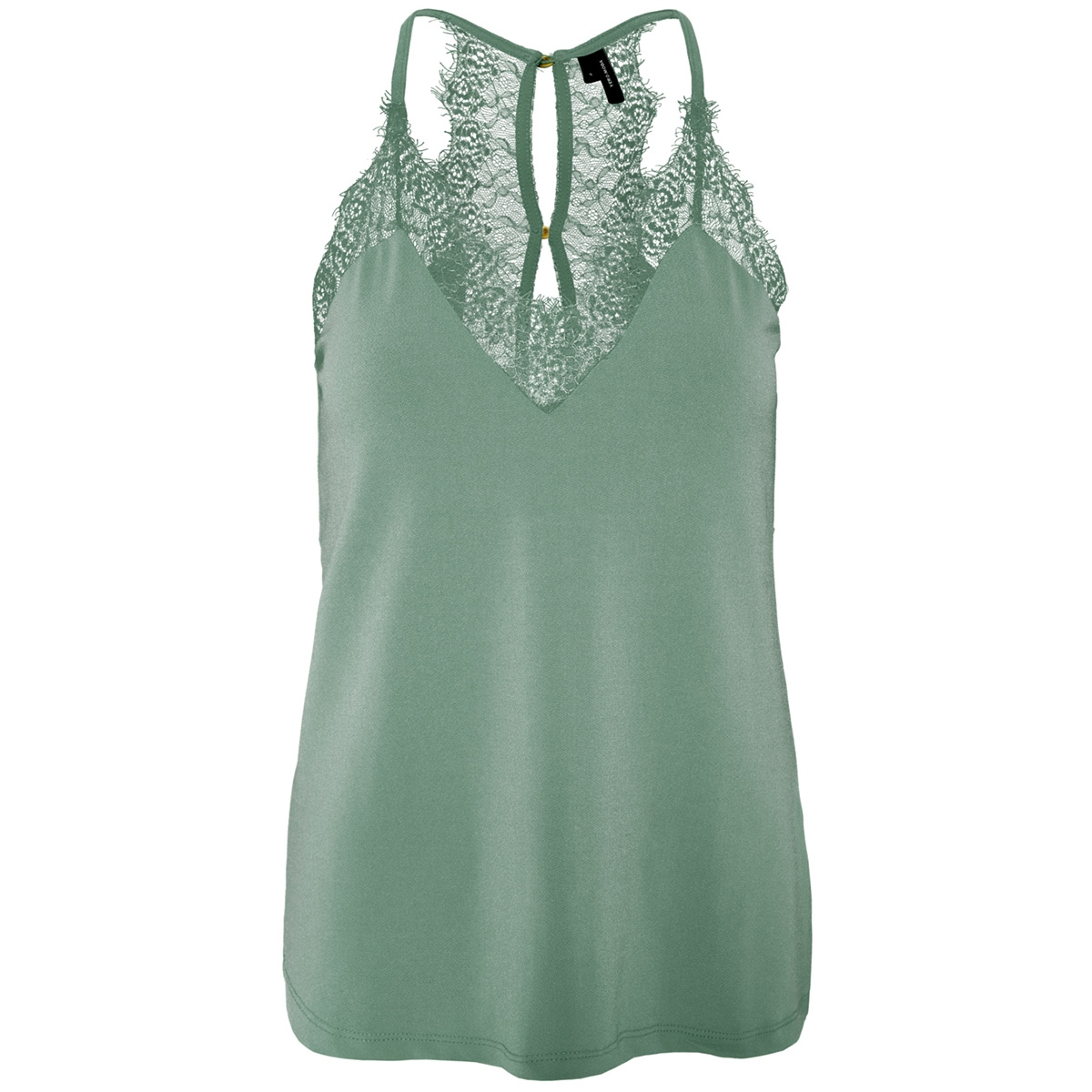vmmilla s/l lace top color 10209420 vero moda top laurel wreath