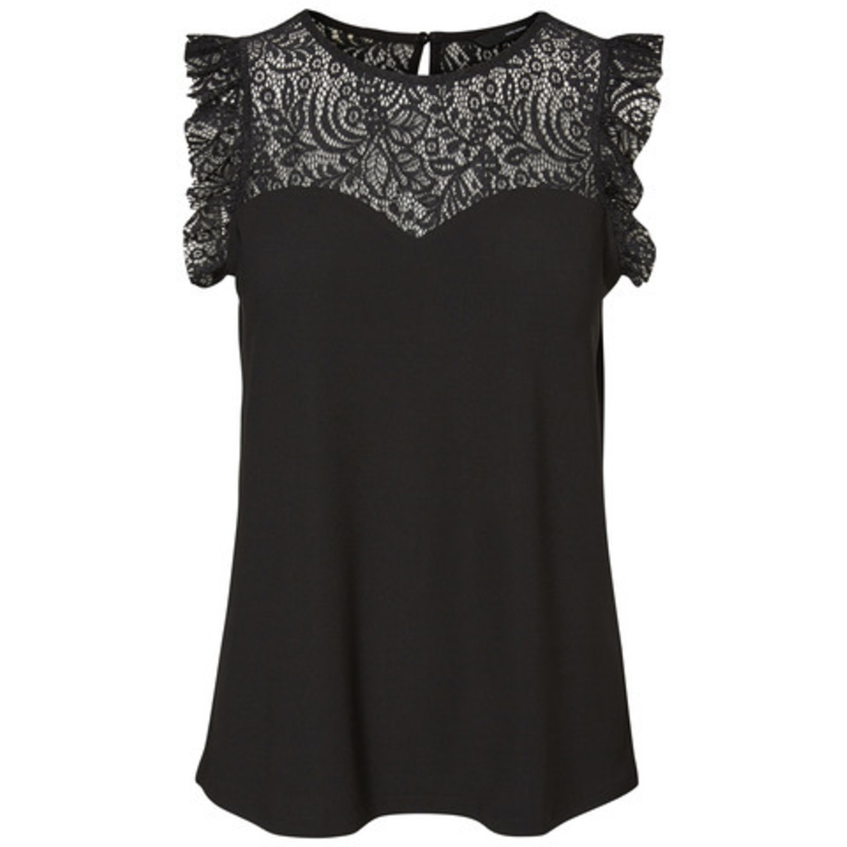 vmalberta sweetheart lace s/l top noos 10196238 vero moda top black