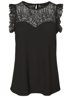 Vero Moda Top VMALBERTA SWEETHEART LACE S/L TOP NOOS 10196238 Black
