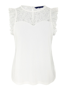 Vero Moda Top VMALBERTA SWEETHEART LACE S/L TOP NOOS 10196238 Snow White