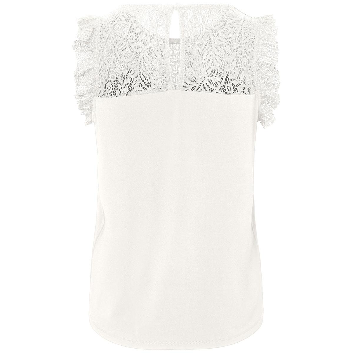 vmalberta sweetheart lace s/l top noos 10196238 vero moda top snow white