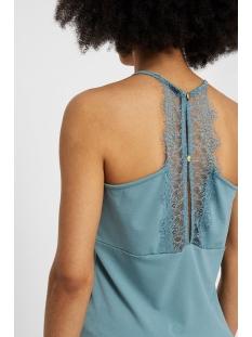 vmmilla s/l lace top noos 10185863 vero moda top smoke blue