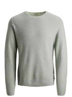 Jack & Jones Trui JJERON KNIT CREW NECK STS 12148034 Lily Pad