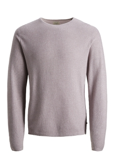 Jack & Jones Trui JJERON KNIT CREW NECK STS 12148034 Toadstool