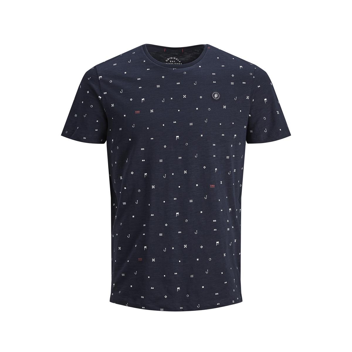 jorcrusoe tee ss crew neck 12147512 jack & jones t-shirt total eclipse/slim