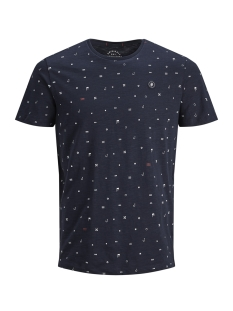 Jack & Jones T-shirt JORCRUSOE TEE SS CREW NECK 12147512 Total Eclipse/SLIM