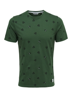 Only & Sons T-shirt onsEPUS AOP FITTED TEE SS 22012256 Dark Green