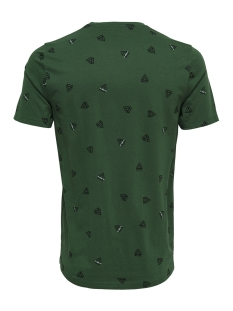 onsepus aop fitted tee ss 22012256 only & sons t-shirt dark green