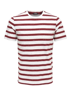 Only & Sons T-shirt onsELKY STRIPE SS TEE 22012161 Sun-Dried Tomato