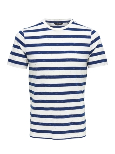 Only & Sons T-shirt onsELKY STRIPE SS TEE 22012161 Dress Blues