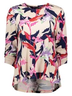 Vero Moda T-shirt VMNAIA JERSEY 3/4 AOP BLOUSE VIP 10218353 Cream Tan/NAIA