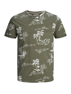 Produkt T-shirt PKTGMS HOLIDAY AOP TEE SS 12149680 Dusty Olive