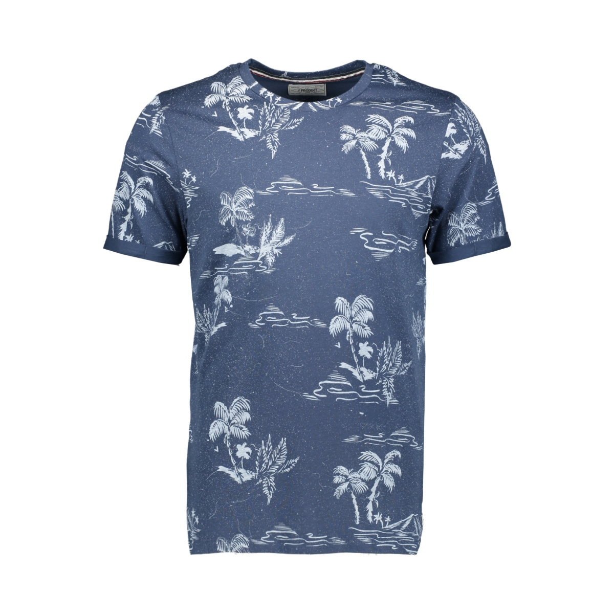 pktgms holiday aop tee ss 12149680 produkt t-shirt dark denim