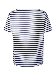 pcingrid ss top noos 17092240 pieces t-shirt bright white/maritime blue