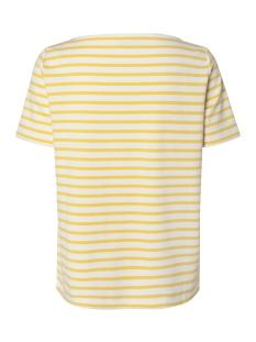 pcingrid ss top noos 17092240 pieces t-shirt bright white/lemon chrome