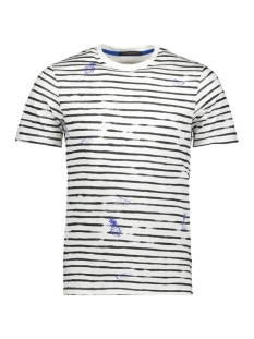 Jack & Jones T-shirt JORSKETCHY TEE SS CREW NECK 12155843 Cloud Dancer/SLIM - STRIPES