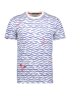Jack & Jones T-shirt JORSKETCHY TEE SS CREW NECK 12155843 Cloud Dancer/SLIM - WAVES