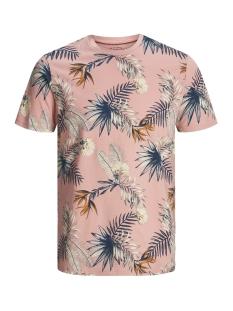 Jack & Jones T-shirt JORLEAF FLORAL TEE SS CREW NECK 12148027 Rosette/SLIM