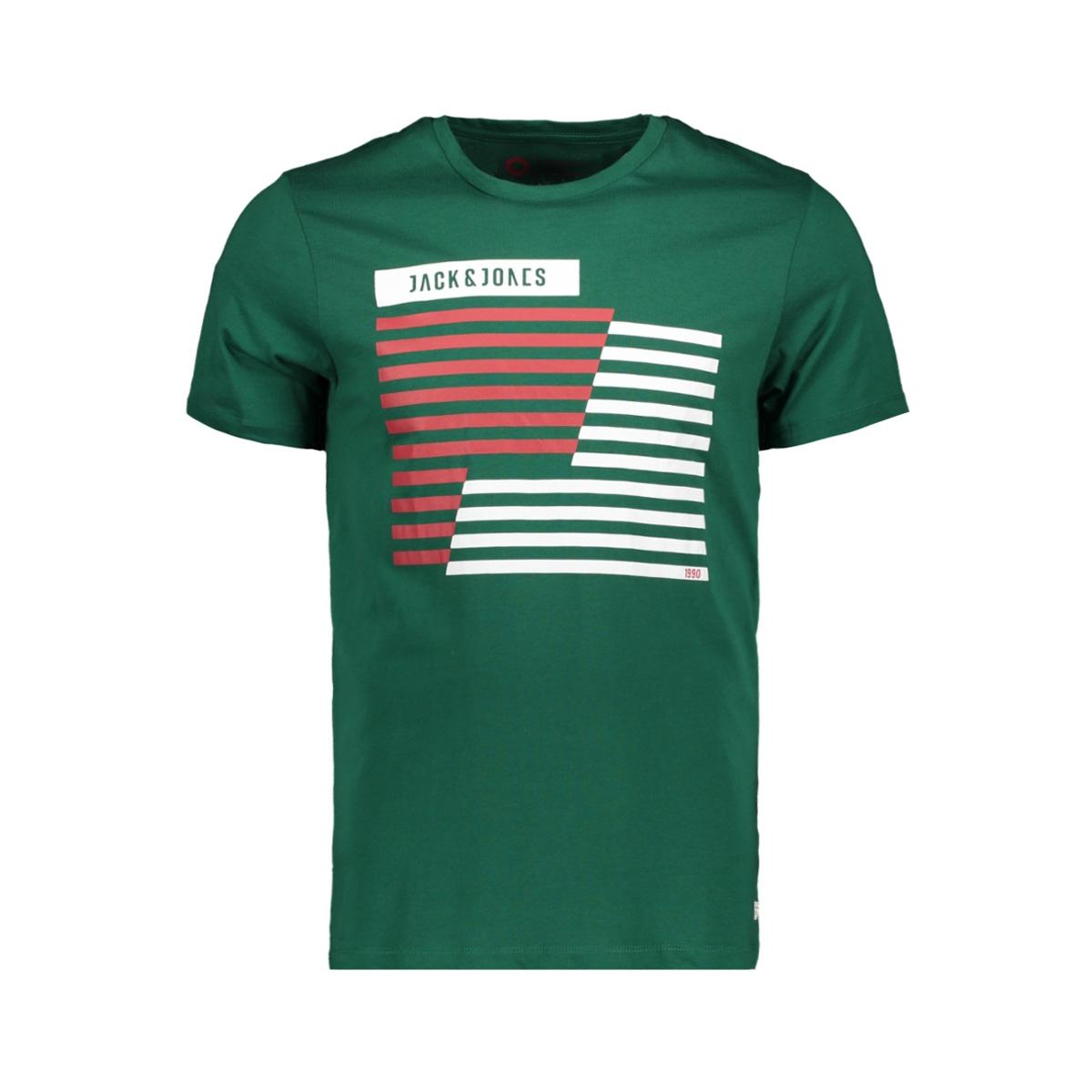 jcobooster tee ss crew neck march 1 12149273 jack & jones t-shirt evergreen/slim