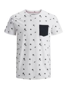 Jack & Jones T-shirt JORFRASER TEE SS CREW NECK 12147313 Cloud Dancer/SLIM