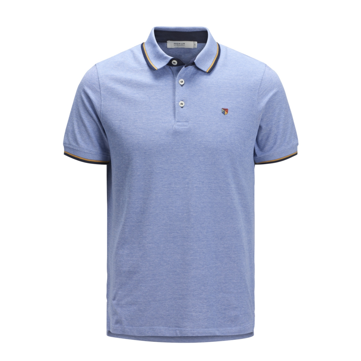 jprpaulos play blu. polo ss sts 12135529 jack & jones polo bright cobalt/slim mixed