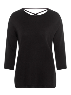 Vero Moda Trui VMRAIN 3/4 SLEEVE  BACK STRING BLOUSE 10207837 Black