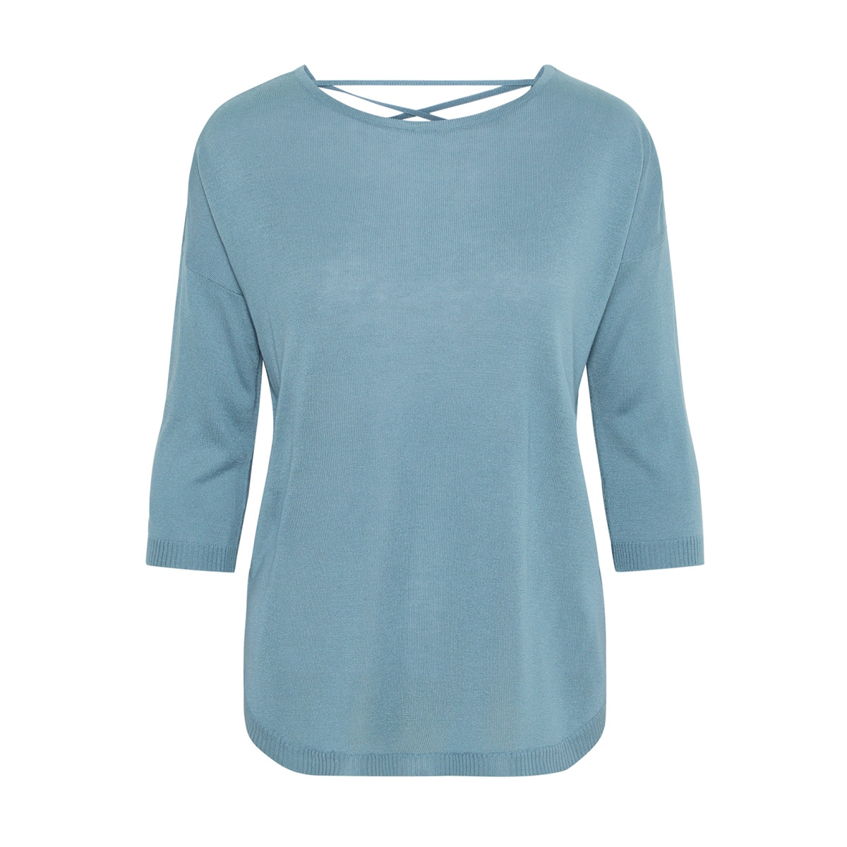 vmrain 3/4 sleeve  back string blouse 10207837 vero moda trui smoke blue