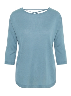 Vero Moda Trui VMRAIN 3/4 SLEEVE  BACK STRING BLOUSE 10207837 Smoke Blue