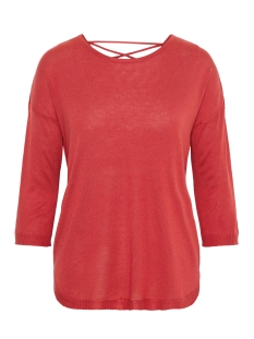 Vero Moda Trui VMRAIN 3/4 SLEEVE  BACK STRING BLOUSE 10207837 Chinese Red